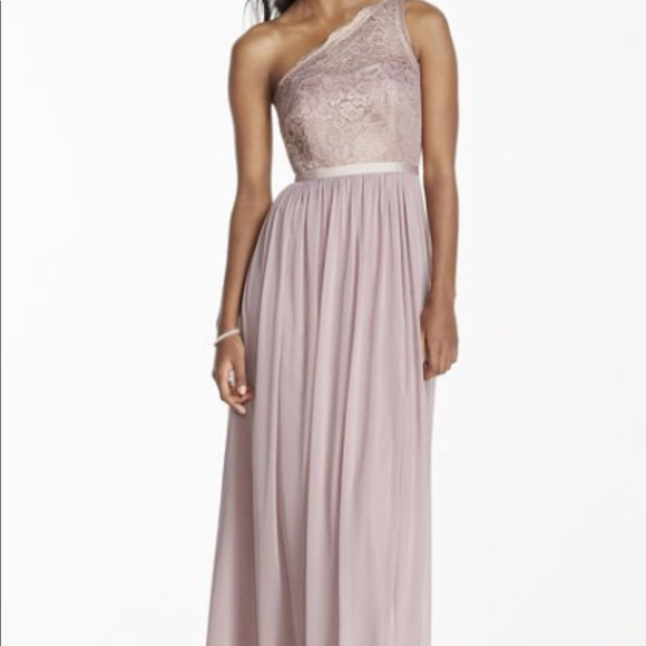 David S Bridal Dresses Davids Bridal Rose Gold Metallic Bridesmaid